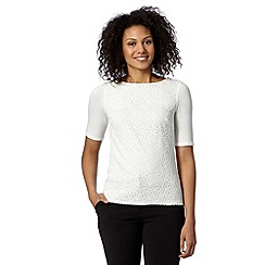 Betty Jackson.Black - Designer ivory lace front top