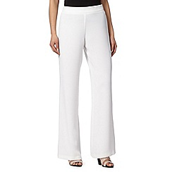 Betty Jackson.Black - Designer ivory wide leg trousers