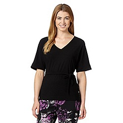 Betty Jackson.Black - Designer black kimono jersey top