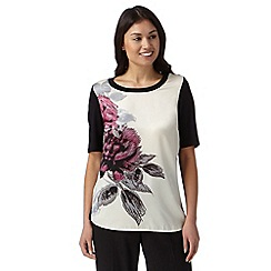 Betty Jackson.Black - Designer ivory rose print top