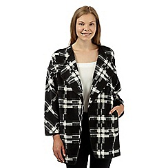 Betty Jackson.Black - Designer black checked cape coat