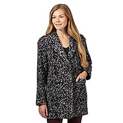 Betty Jackson.Black - Grey knitted coat