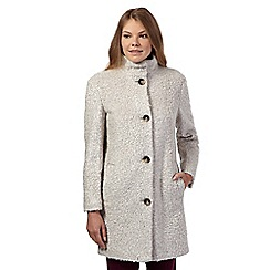 Betty Jackson.Black - Off white boucle coat
