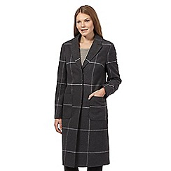 Betty Jackson.Black - Dark grey checked coat