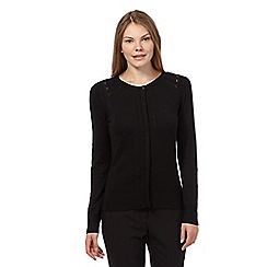 Betty Jackson.Black - Black pointelle detail cardigan