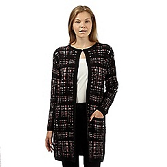 Betty Jackson.Black - Designer black checked coatigan