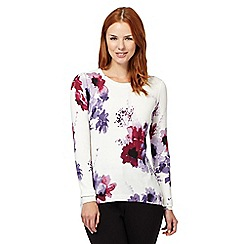 Betty Jackson.Black - Designer ivory floral jumper