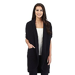 Betty Jackson.Black - Light grey wool blend cardigan