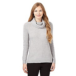 Betty Jackson.Black - Grey cowl neck jumper