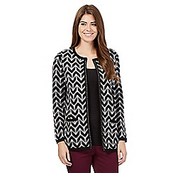 Betty Jackson.Black - Black zig zag cardigan