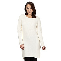 Betty Jackson.Black - White knitted tunic top