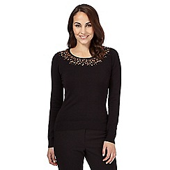 Betty Jackson.Black - Black sequin detail top