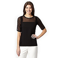 Betty Jackson.Black - Designer black jersey panel top