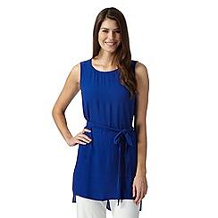 Betty Jackson.Black - Designer royal blue self tie waist tunic