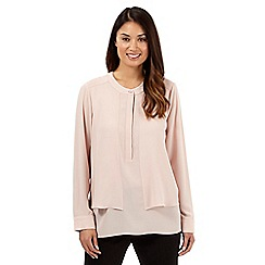 Betty Jackson.Black - Designer pale pink layered top