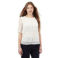 Betty Jackson.Black - Ivory layered chiffon top