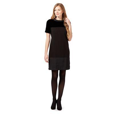 Betty Jackson.Black Black velvet block tunic dress
