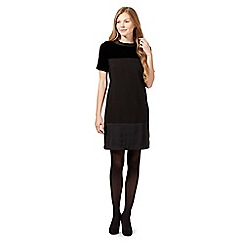 Betty Jackson.Black - Black velvet block tunic dress