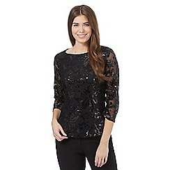 Betty Jackson.Black - Black sequin mesh top