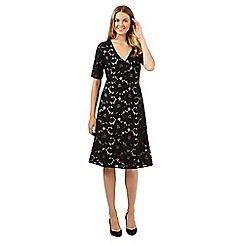 Betty Jackson.Black - Designer black floral lace dress