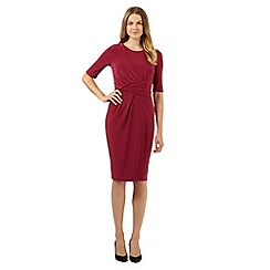 Betty Jackson.Black - Designer dark pink wrap dress