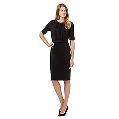 Betty Jackson.Black - Black pleat front dress