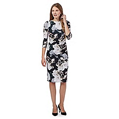 Betty Jackson.Black - Black floral print dress