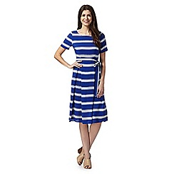 Betty Jackson.Black - Designer royal blue striped dress