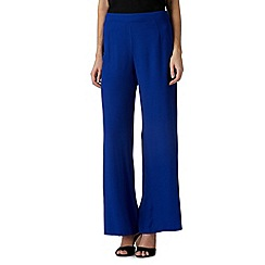 Betty Jackson.Black - Designer royal blue wide legged trousers
