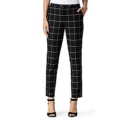Betty Jackson.Black - Designer black checked trousers