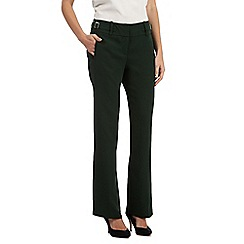 Betty Jackson.Black - Dark green wide leg trousers
