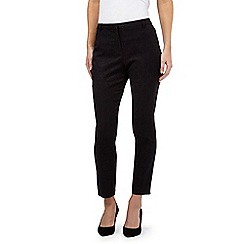 Betty Jackson.Black - Black jacquard trousers