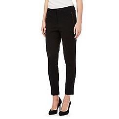 Betty Jackson.Black - Black slim grosgrain trim formal trousers