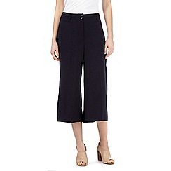 Betty Jackson.Black - Navy cropped palazzo trousers
