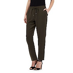 Betty Jackson.Black - Dark green textured trousers