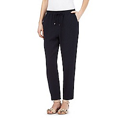 Betty Jackson.Black - Navy textured trousers