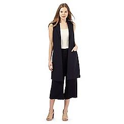 Betty Jackson.Black - Navy longline waistcoat