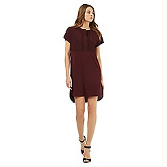 Betty Jackson.Black - Dark red jersey tunic dress