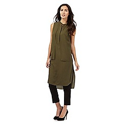 Betty Jackson.Black - Khaki longline tunic