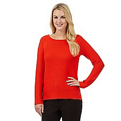 Betty Jackson.Black - Orange chunky knit jumper