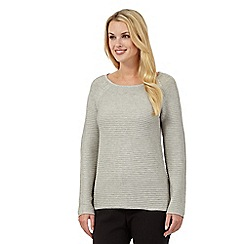 Betty Jackson.Black - Grey chunky knit jumper