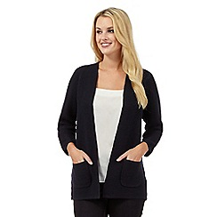 Betty Jackson.Black - Navy grosgrain stitch cardigan