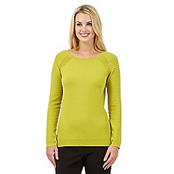 Betty Jackson.Black - Lime compact jumper