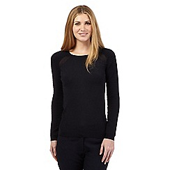 Betty Jackson.Black - Black ribbed sleeve jumper