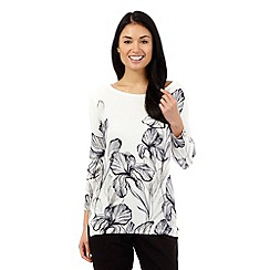 Betty Jackson.Black - Ivory floral print jumper