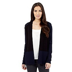 Betty Jackson.Black - Navy colour block cardigan