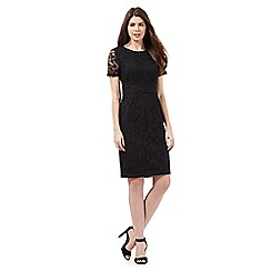 Betty Jackson.Black - Black lace panel dress