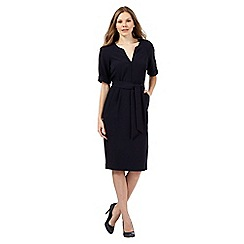 Betty Jackson.Black - Navy V neck dress