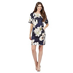 Betty Jackson.Black - Navy floral print shift dress