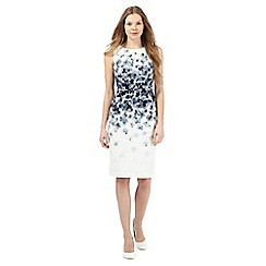 Betty Jackson.Black - Ivory floral jacquard pencil dress